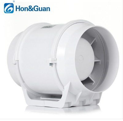 "5"" Inline Duct Fan Hydroponic Bath Extractor Booster Vetilation Blower Fan 110V"