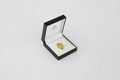 Beautiful Vintage 14ct Gold on .925 STERLING SILVER Brooch BOXED -4.7g