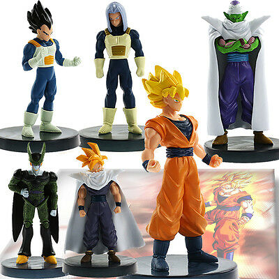 6 PCS/Set New Dragon Ball Action Figure Toy Anime Dragonball Z DBZ Joint Movable