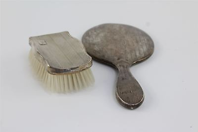 Vintage HALLMARKED STERLING SILVER Vanity Mirror & Brush 546g