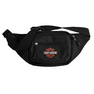 Harley Davidson Crossbody Waist Pack Bum Bag Bar & Shield Black Orange