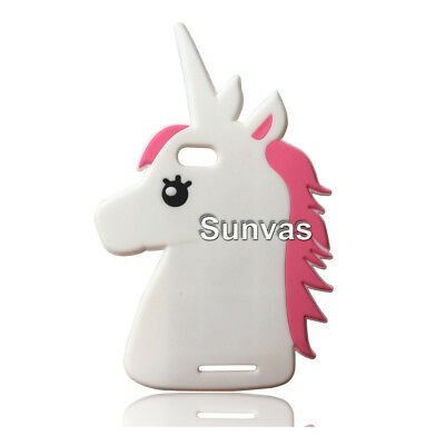 For Wiko Lenny 3 Cute Cartoon Animal Unicorn 3D Soft Silicone Case Back Cover