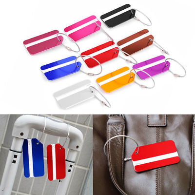 Practical Suitcase Plane Luggage Tag Name ID Address Label Holder Travel Baggage
