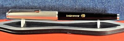 """Centropen""  3770  Black&Silver&CT  Fountain pen c.1977's  w/Orig.case"