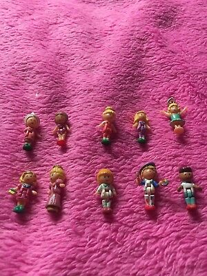 10 vintage polly pocket figures