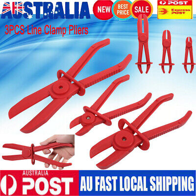 3x Mechanic Nylon Hose Pipe Clamp Kit Brake Fuel Water Line Plier Hands Tool AU