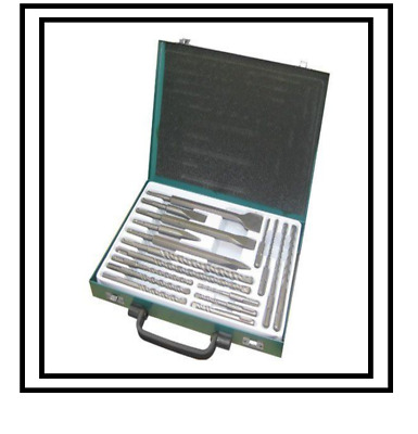 New 17Pc Sds Drill Bits Flat Centre Chisel Bits Set With Storage Case