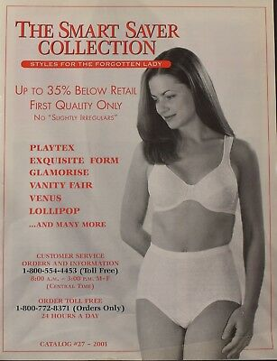 Smart Saver Collection, Catalog 27,2001 Ladies Bra's and Undergarments