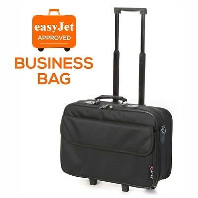 """easyJet 15.6"""" Wheeled Rolling Laptop Briefcase Case Business Bag Approved Hand C"""