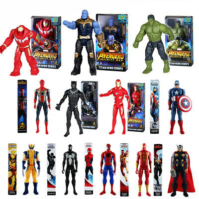 Avengers Infinity War Titan Hero Series Thanos Spiderman Hulk Action Figures