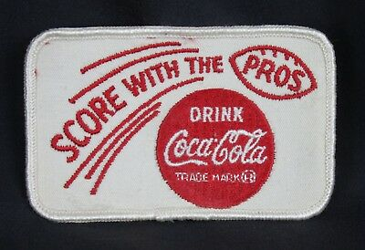 Vintage Coca Cola Coke Patch Score With the Pros Football Sports Embroidered