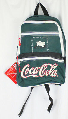 Coke Coca Cola Backpack Polar Bear New with Tag Always in Shape Green Bag Tote