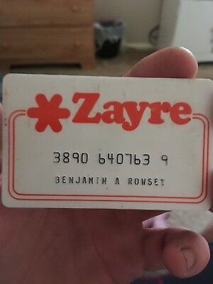 VINTAGE Zayre CREDIT CARD - ZAYRE NOW DEFUNCT DISCOUNT DEPARTMENT STORE EUC