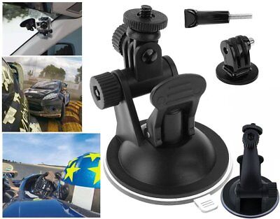 Suction Cup Windscreen Mount Holder for GoPro HD Hero 2 3+4 5 Tripod Adapter UQ