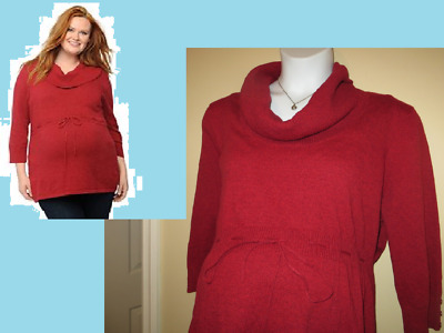 2X NEW Maternity Sweater Plus Size Oh Baby By Motherhood Empire Waist NWT