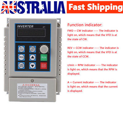 220V 0.75KW 1HP Single To Three Phase Variable Frequency Drive Inverter CNC VFD