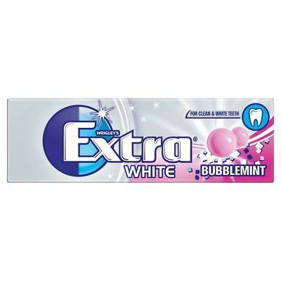 Wrigleys Extra White Bubblemint Sugar Free Chewing Gum 10 Pieces 1 2 3 6 12 Pack