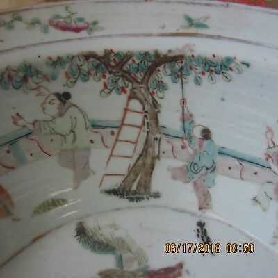 late Qing Chinese Famile Rose Basin