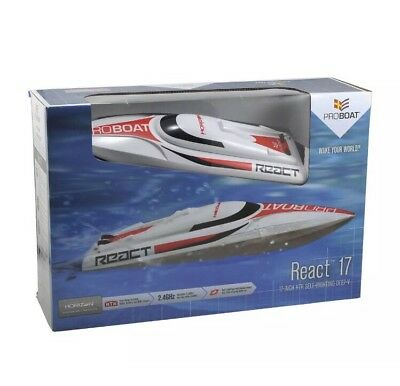 Pro Boat React 17 Self-Righting Deep-V RTR Brushed RC Boat Brand New