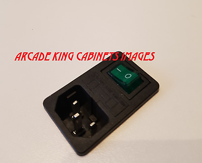 1Pcs 15A 250V IEC320 C14 3 Pin Fused Power Socket Connector Rocker Switch AKC