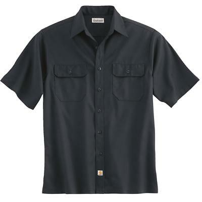 Carhartt Men's Twill Short Sleeve Button Front Work Shirt