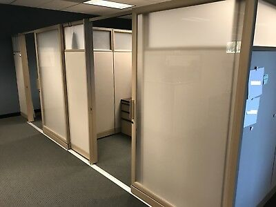 Knoll Steel-Case Cubicle Private Offices with Doors & Open Environment Stations