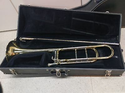 """Accent Brass Trombone 8 1/2"""" Bell w/ F Trigger Attachment, Mouthpiece & Hardcase"""