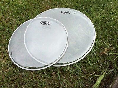"""Evans 360 clear heads 13"""" and 16"""": brand new unplayed."""