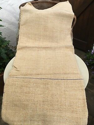 Beautiful Vintage Hemp Grain Sack Linen Upholstery Material