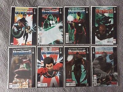 Ultimate Comics The Ultimates Run Lot #1-8 Marvel Hickman Ribic Hulk Thor 2011