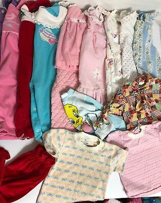 Vintage Baby Girl Toddler Clothes 16 Piece Lot 24 months-2t