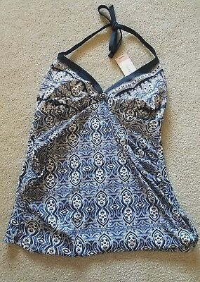 New with tags Liz Lang Maternity Halter Tankini Swimsuit Top Size Medium