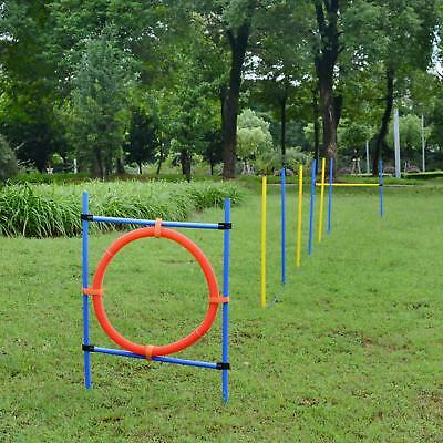 Dog Agility Hurdles Training Set Figure Of 8 Poles For Dogs Pet Exercise Play