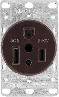 Cooper Wiring Devices 1254-BOX 50-Amp 250-Volt Power Receptacle Black *