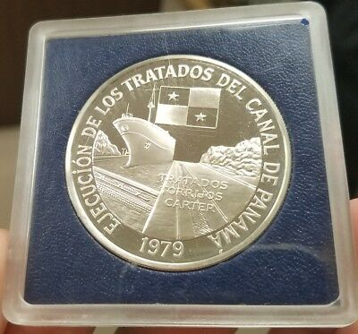 1979 Panama 10 Balboa Sterling Silver Proof Coin