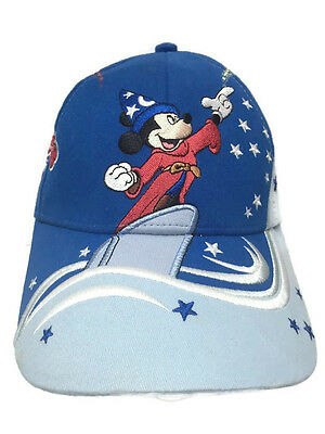 Mickey Mouse Sorcerer Youth Baseball Hat Cap Blue Strapback Disney World