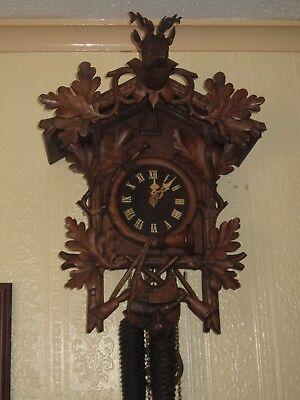 Antique cuckoo clock, circa 1900 by Gordian Hettich