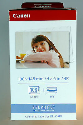 Canon Selphy CP Color  Papier Set KP-108IN CP800 CP900 CP910 CP1200 CP1000