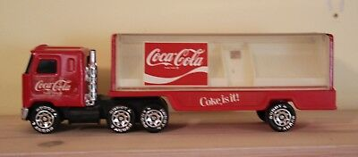 Vintage Buddy L Coca Cola Coke Delivery Truck Semi With Trailer 1980 Cover Lifts