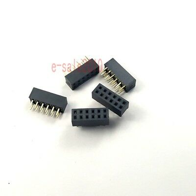 10x Pitch 2mm 2x4 Pin 8Pin Female Double Row Straight Pin PCB Header Strip 2.0mm