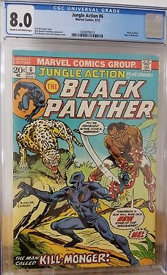 Jungle Action 6 Black Panther CGC 8.0 1st App of Kill-monger (Michael B. Jordan)
