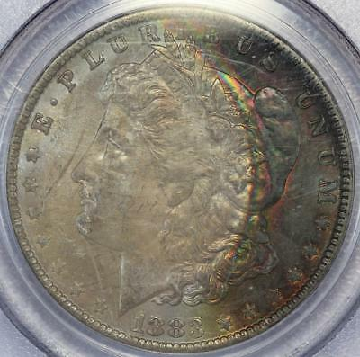 1883 O Morgan Silver Dollar PCGS MS64 - Crescent Toning *DoubleJCoins* 137-31