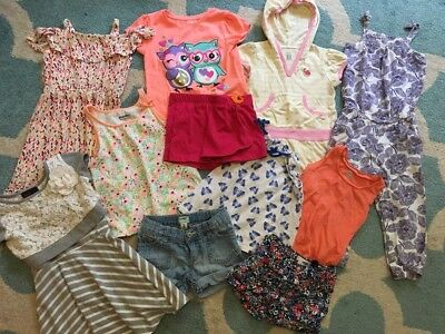 Large Lot Of Girls Play Clothes Size 3T Summer