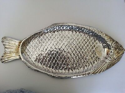 """Vintage Silver Plate Reed & Barton Fish Serving Tray 22"""" #100"""