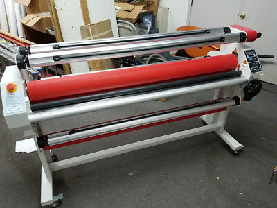 Upgraded 60'' Hot Cold Roll Laminator Full-auto Take Up Low Heating Seal Laminat