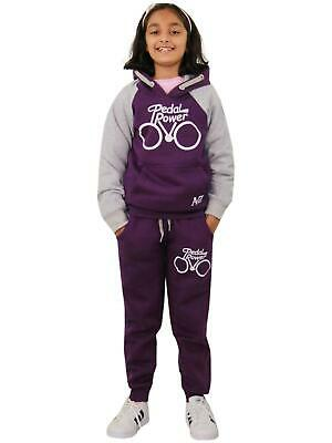 Boys Girls Tracksuit Kids Designer Pedal Power Jogging Suit Top & Bottom 5-13 Yr