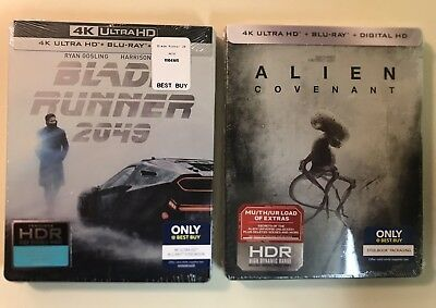 Blade Runner 2049 & Alien Covenant Steelbook 4K Ultra HD/HDR Best Buy NEW SEALED
