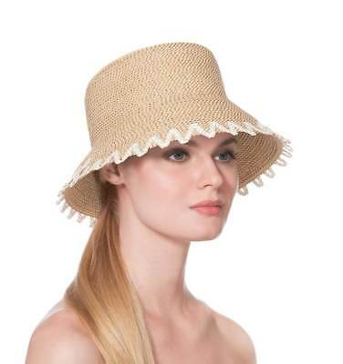 1a4b0c23aba ERIC JAVITS Designer Women s Headwear Hat- Floppy with Fringe- Coral ...