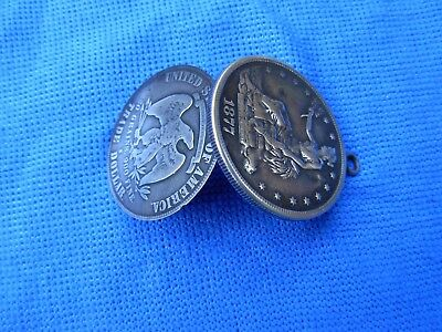 Opium Box Dollar Made From 1878-S Silver Trade Dollar Hollow coin fob SECRET