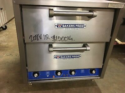 Bakers Pride DP-2 Countertop 2 Compartment Electric Stone Deck Oven